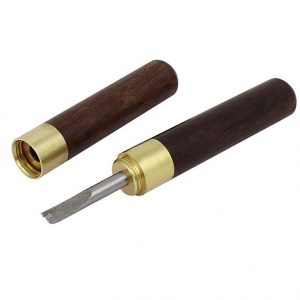 Aexit 2mm Width Leathercraft Groove Wooden Handle Edge Beveler