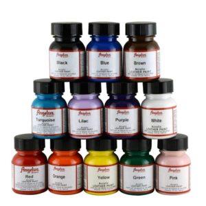 Angelus 12-Color Leather Paint Kit
