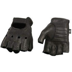 Shaf International SH851-BLK-XL Deer Skin Fingerless Gloves