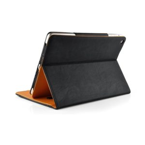 New S-Tech Black and Tan Apple iPad Air 2 Soft Leather