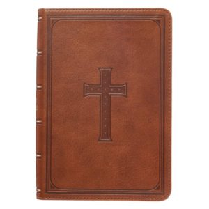 Holy Bible Compact Large Print LuxLeather Tan King James Version