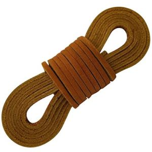 TOFL Leather Boot Laces-easy Sizing Cut to Fit