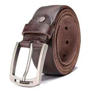 Mens 100% Italian Cow Leather Belt Men