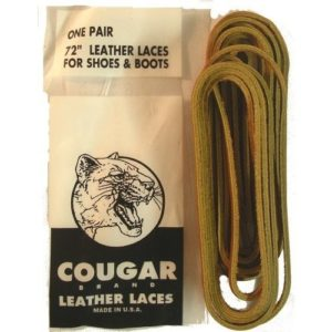 Leather Laces For Shoes & Boots Tan