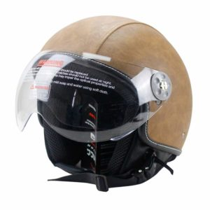 Woljay Leather Motorcycle Vintage Half