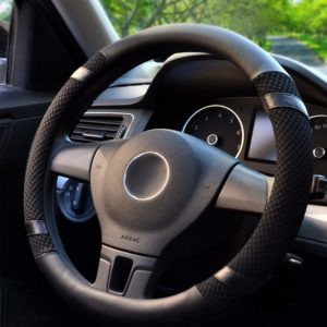 BOKIN Steering Wheel Cover Microfiber Leather and Viscose, Breathable