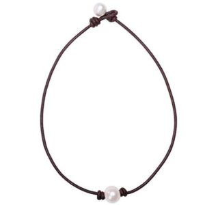 Aobei Single Cultured Freshwater Pearl Choker Necklace