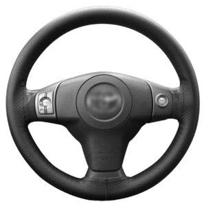 LemonBest Universal Pu Leather Car Steering Wheel Cover Anti Slip Auto Car Stitch On Wrap Cover