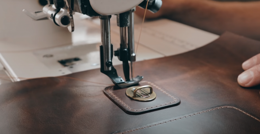 Compatibility of full-grain leather with other materials