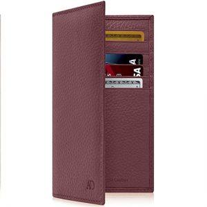 Genuine Leather Checkbook Cover For Women & Men