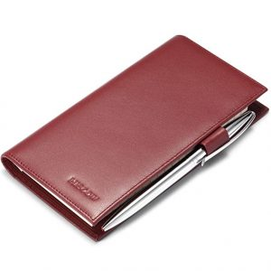 HISCOW Supple Leather Checkbook Cover with Free Divider - Italian Calfskin